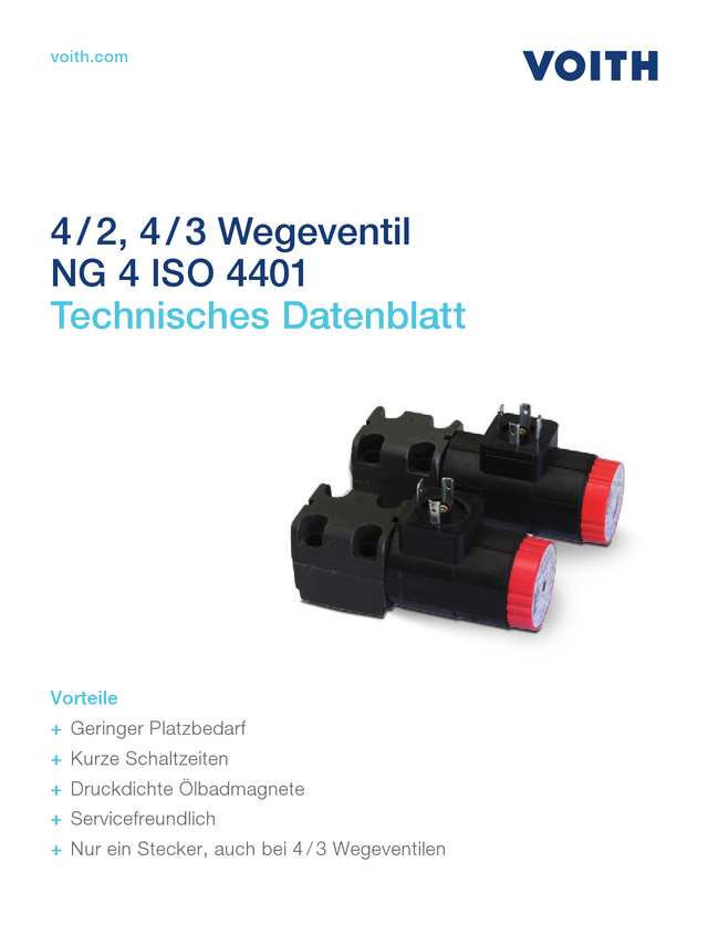 4/2, 4/3 Wegeventil NG 4 ISO 4401
