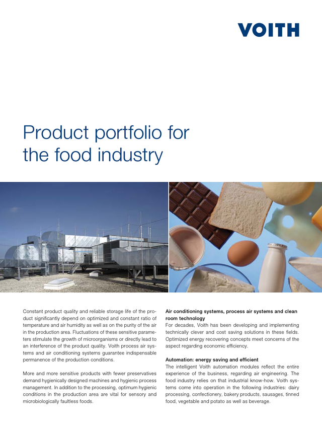 Product portfolio for the food industry