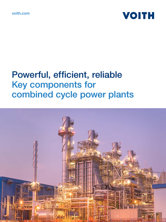 Key components for combined cycle power plants