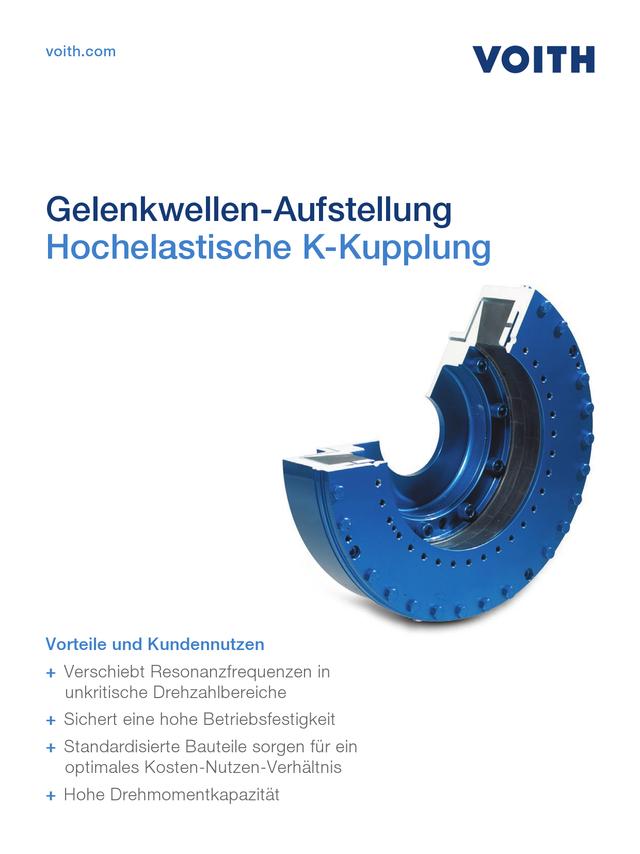 Hochelastische K-Kupplung - Gelenkwellen-Aufstellung