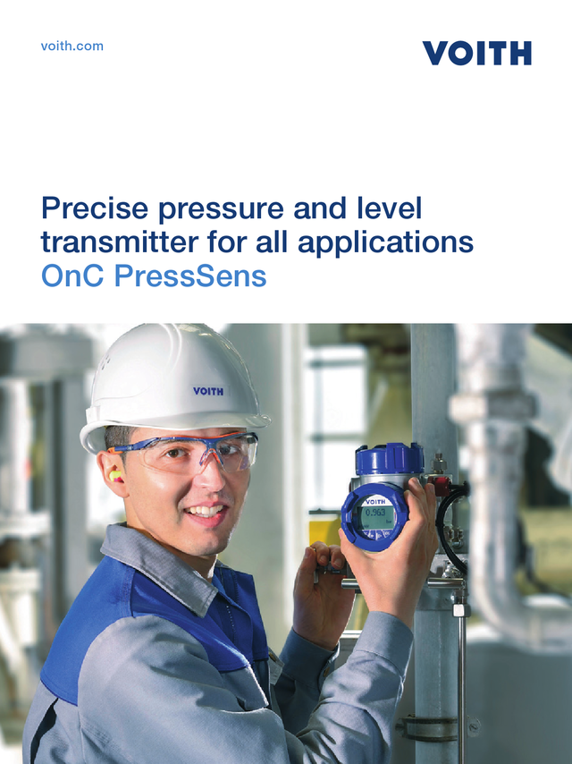 Precise pressure and level transmitter for all applications - OnC PressSens