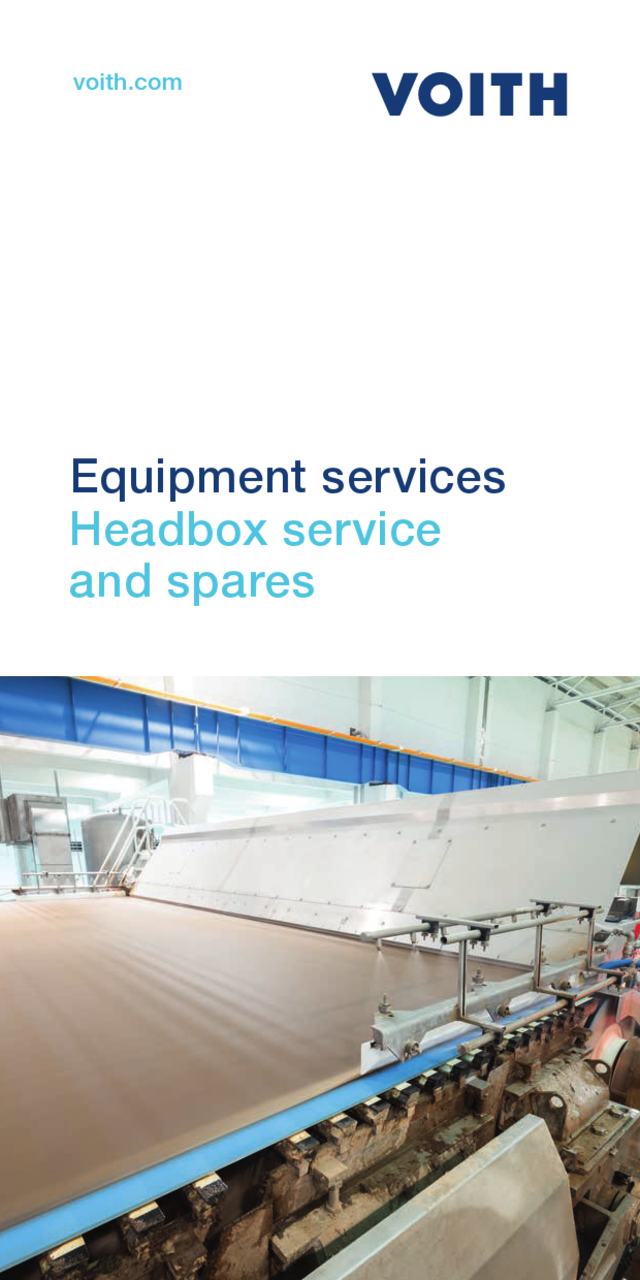 Headbox service and spares