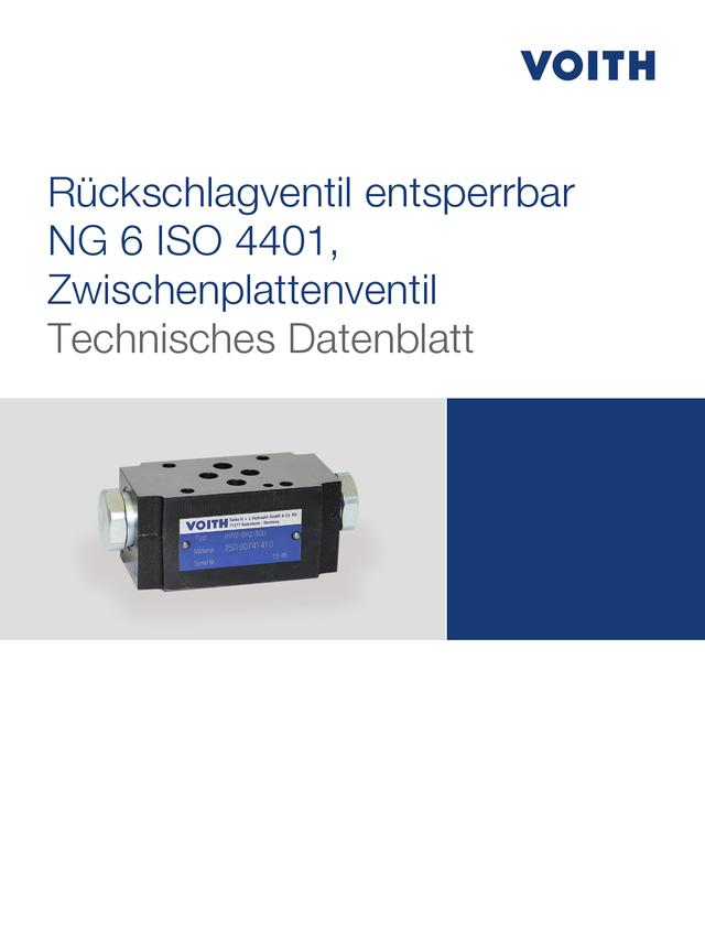 Rückschlagventil entsperrbar NG 6 ISO 4401, Zwischenplattenventil