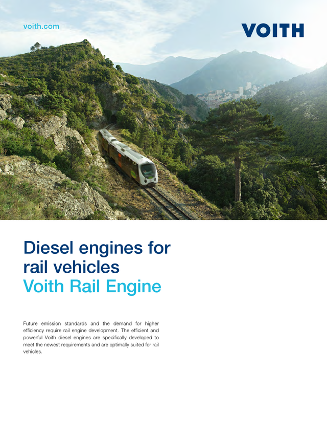 Diesel engines for rail vehicles - Voith Rail Engine