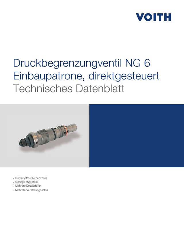 Druckbegrenzungsventil NG 6 Einbaupatrone, direktgesteuert