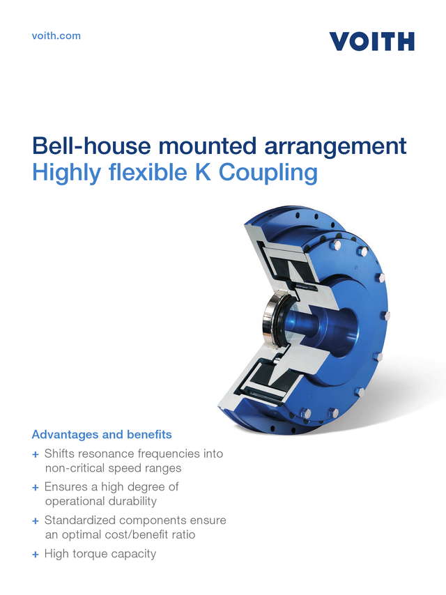 Highly flexible K Coupling - Bell-House mounted arrangement