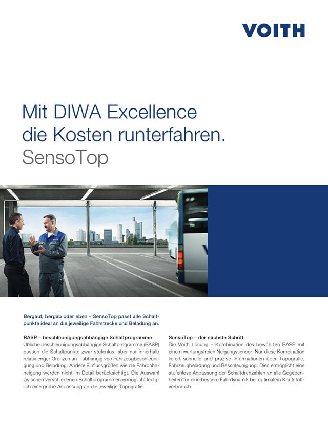 Mit DIWA Excellence die Kosten runterfahren. SensoTop