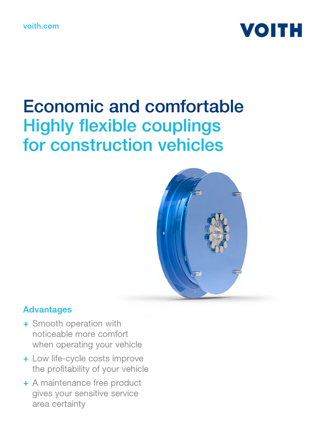 Highly flexible couplings for construction vehicles