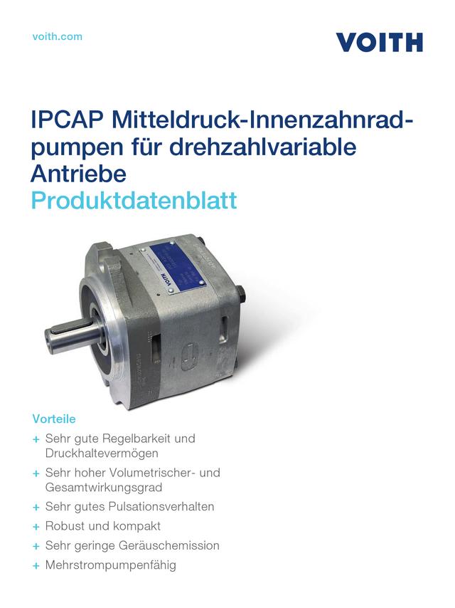 IPCAP Mitteldruck-Innenzahnradpumpen für drehzahlvariable Antriebe