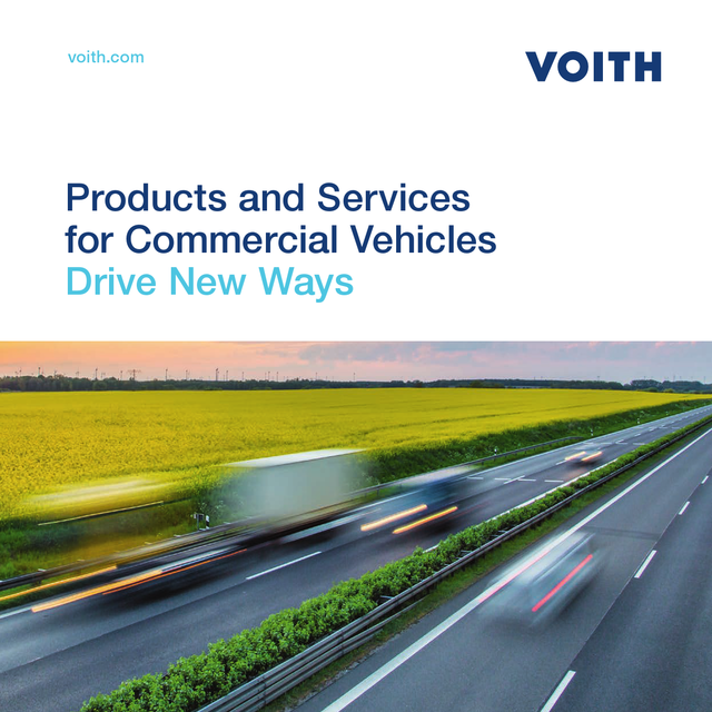 Drive New Ways Commercial Vehicles Products and services voith.com