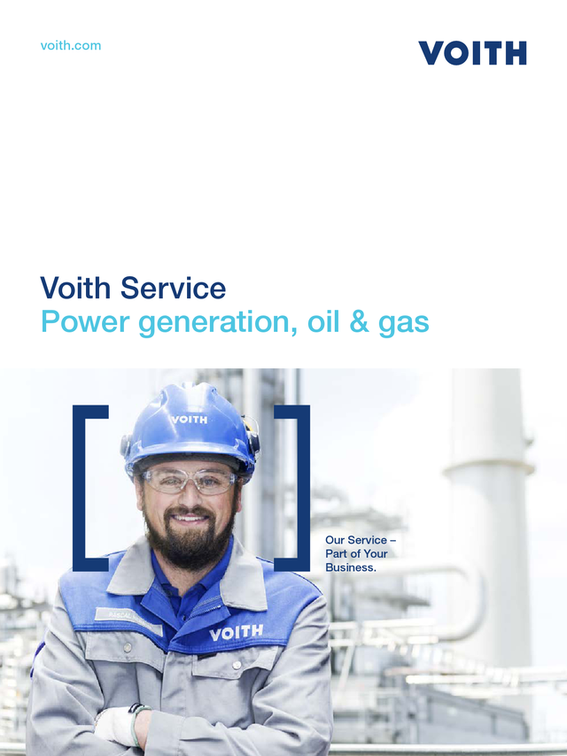 Voith Service − Power generation, oil & gas