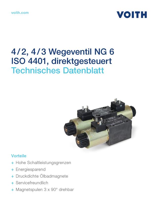 4/2, 4/3 Wegeventil NG 6 ISO 4401, direktgesteuert