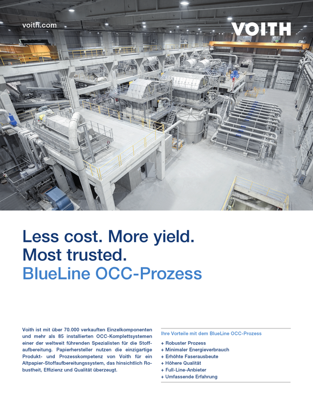 Less cost. More yield. Most trusted. BlueLine OCC-Prozess