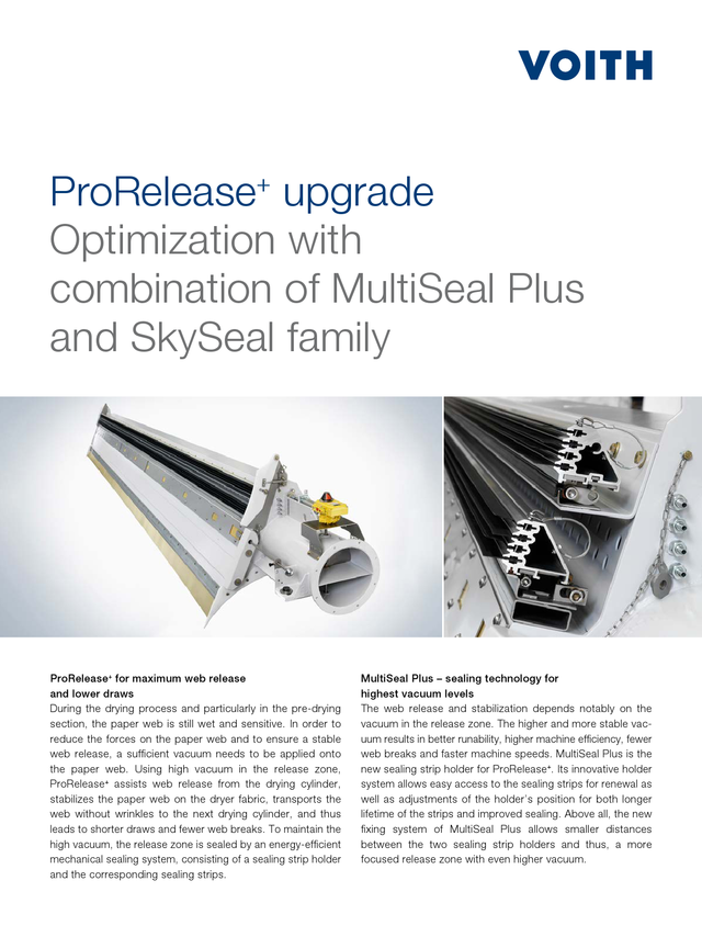 ProRelease+ upgrade. Optimization with combination of MultiSeal Plus and SkySeal family