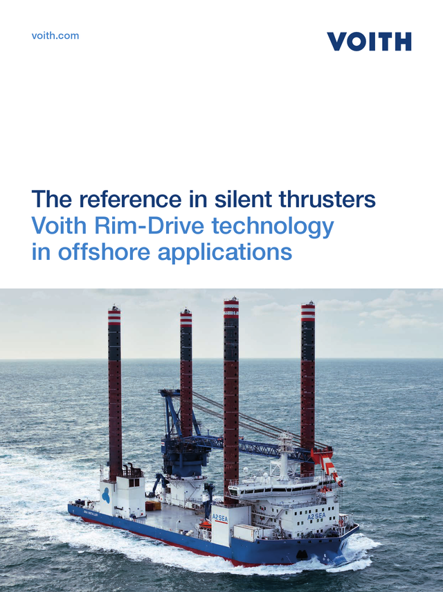 The reference in silent thrusters.  Voith Rim-Drive technology in offshore applications