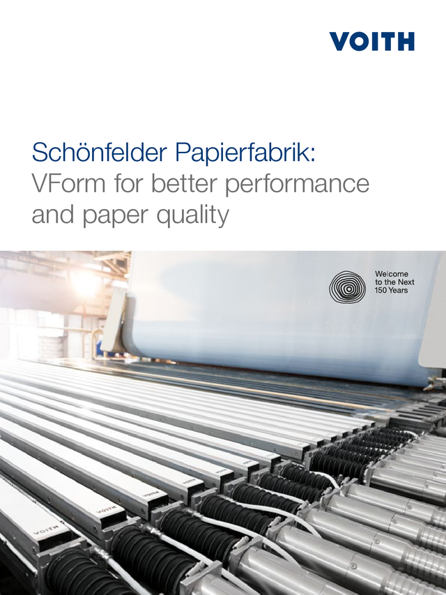 Schönfelder Papierfabrik: VForm for better performance and paper quality