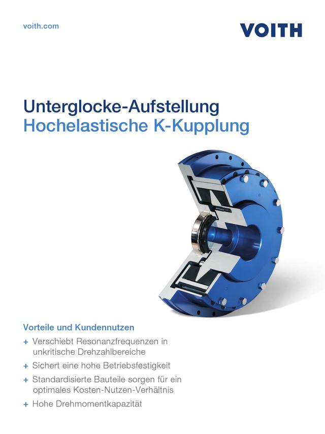 Hochelastische K-Kupplung - Unterglocke-Aufstellung