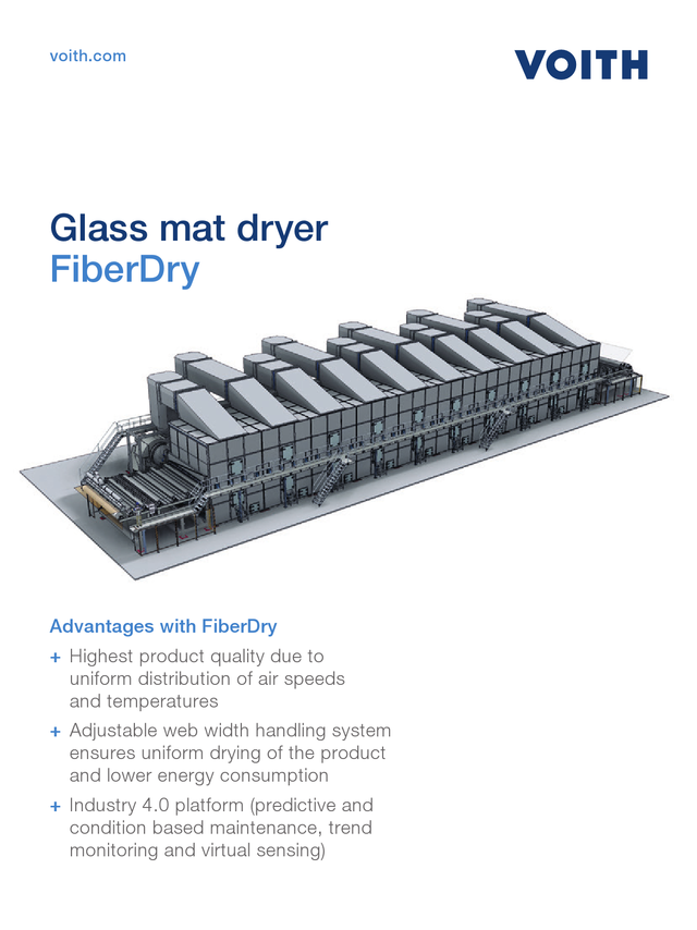 Glass mat dryer - FiberDry