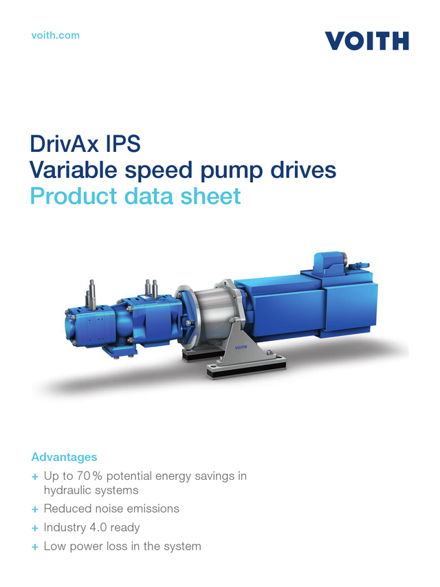 The future - intelligent servo pump drives
