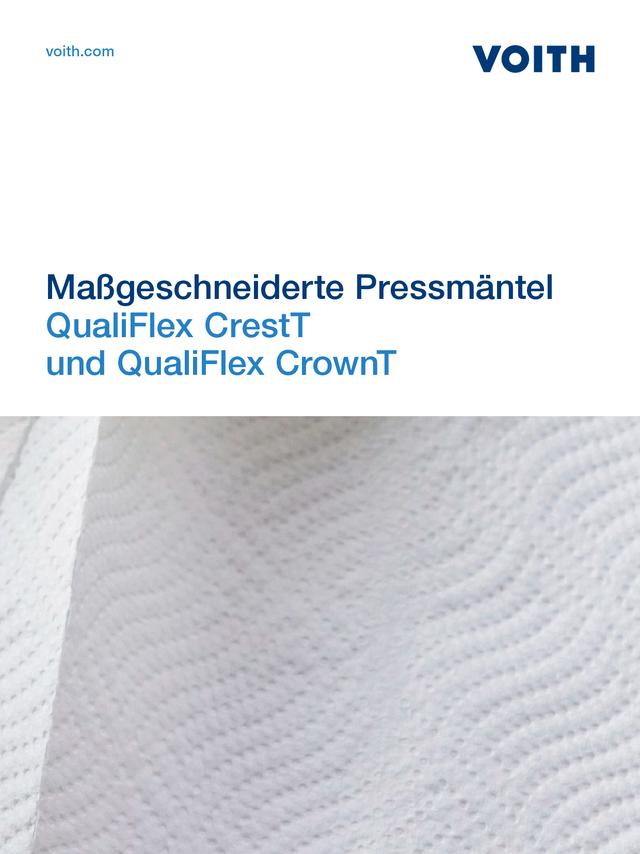 Maßgeschneiderte Pressmäntel QualiFlex CrestT  und QualiFlex CrownT