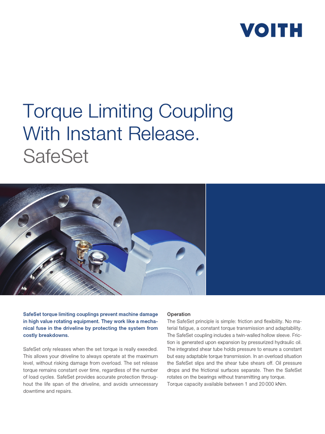 Torque limiting coupling with instant release - SafeSet