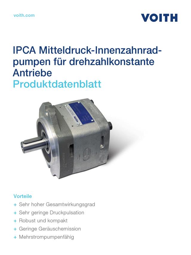 IPCA Mitteldruck-Innenzahnradpumpen