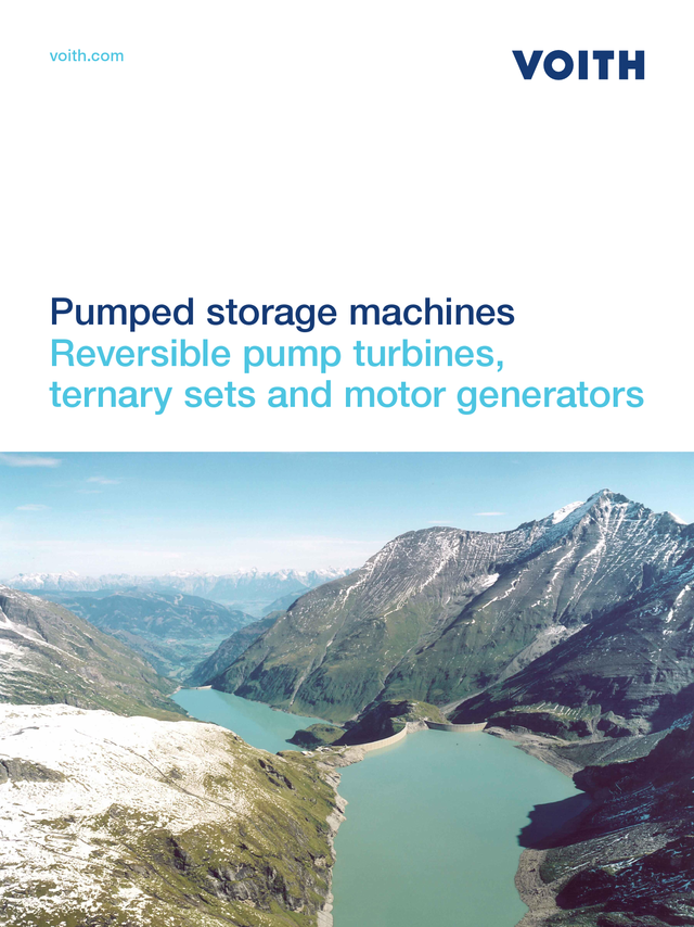 Reversible pump turbines, Ternary sets and motorgenerators, Pumped storage machines