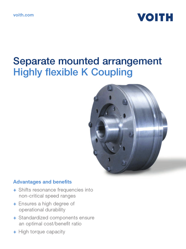 Highly flexible K Coupling - Separate mounted arrangement