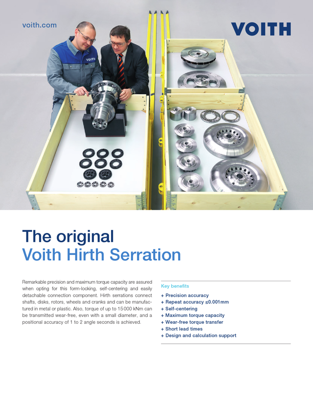 The Original. Voith Hirth Couplings