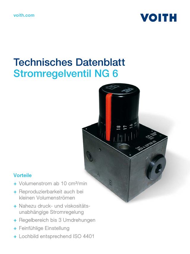 Stromregelventil NG 6