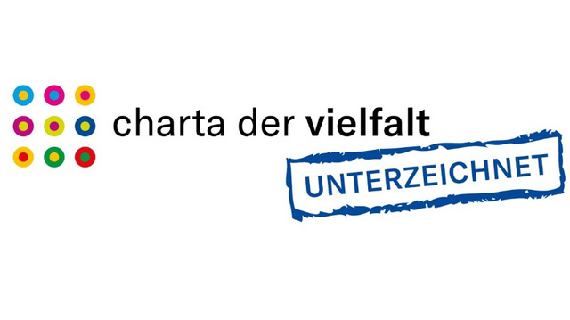 """Charta der Vielfalt"" (Diversity Charter)<BR>We have committed to supporting diversity and inclusion in the business world."
