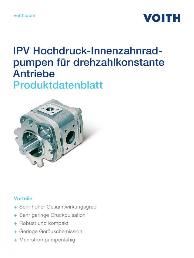 IPV Hochdruck-Innenzahnradpumpen