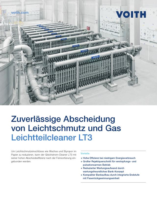 Zuverlässige Abscheidung von Leichtschmutz und Gas – Leichtteilcleaner LT3