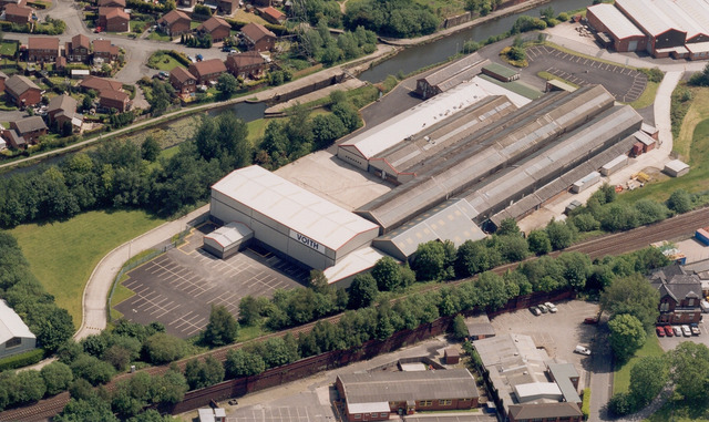 Aerial view Voith Paper location in Manchester
