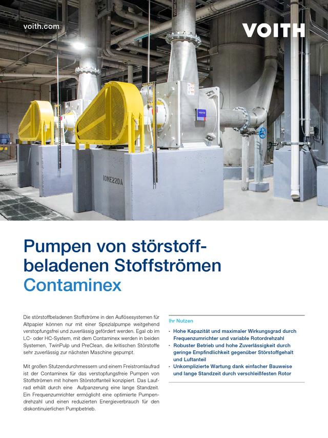 Pumpen von störstoffbeladenen Stoffströmen – Contaminex