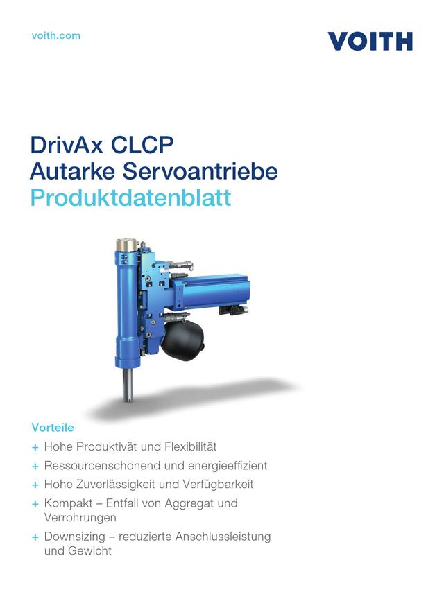 Autarker Servoantrieb CLCP  Technisches Datenblatt