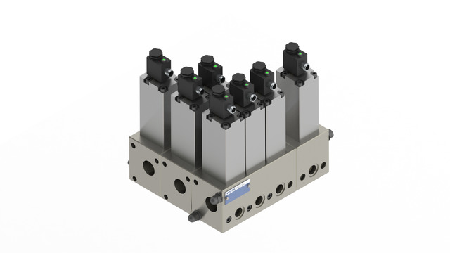 Directional control valves and mounting plates