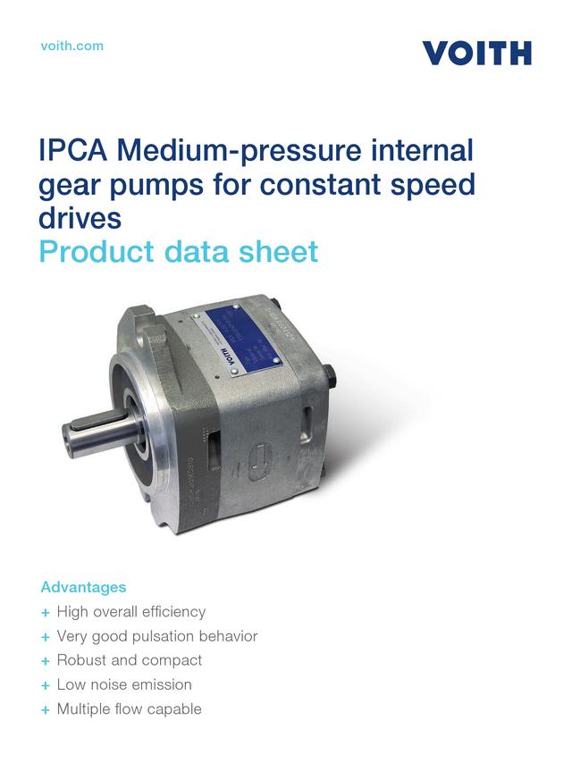 IPCA Medium-pressure Internal Gear Pumps