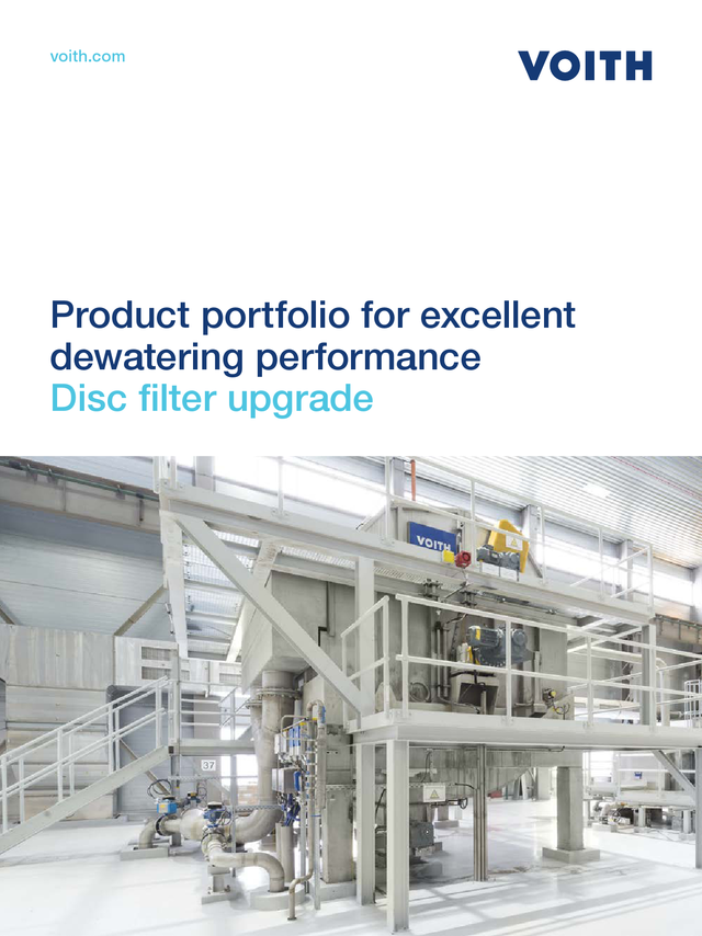 Product portfolio for excellent dewatering performance – Disc filter upgrade