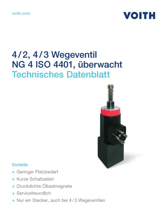 4/2, 4/3 Wegeventil NG 4 ISO 4401, überwacht