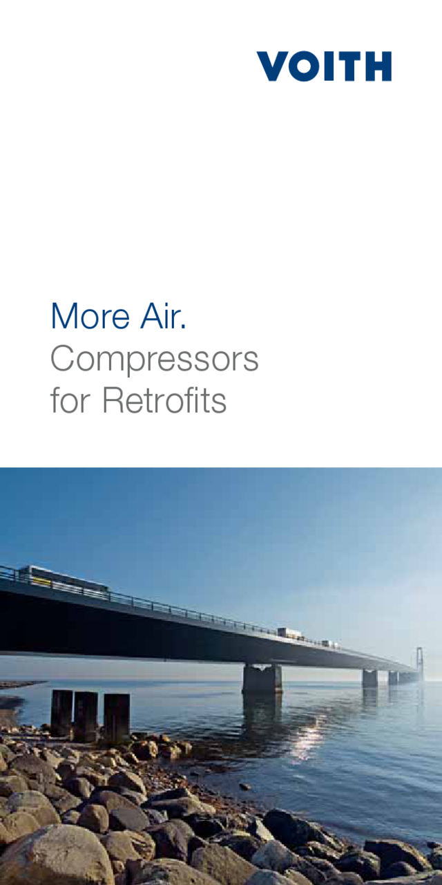 More Air. Compressors for Retrofits