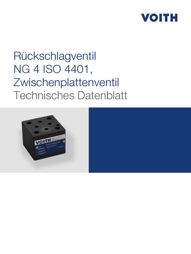 Rückschlagventil NG 4 ISO 4401, Zwischenplattenventil
