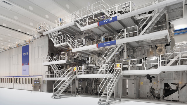 Press section in the Perlen paper machine by Voith