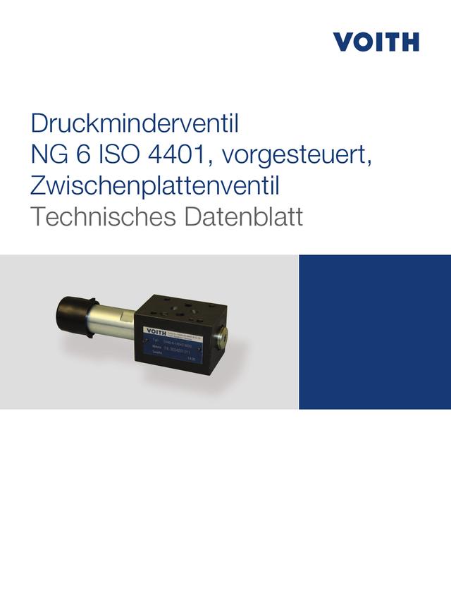Druckminderventil NG 6 ISO 4401, vorgesteuert, Zwischenplattenventil