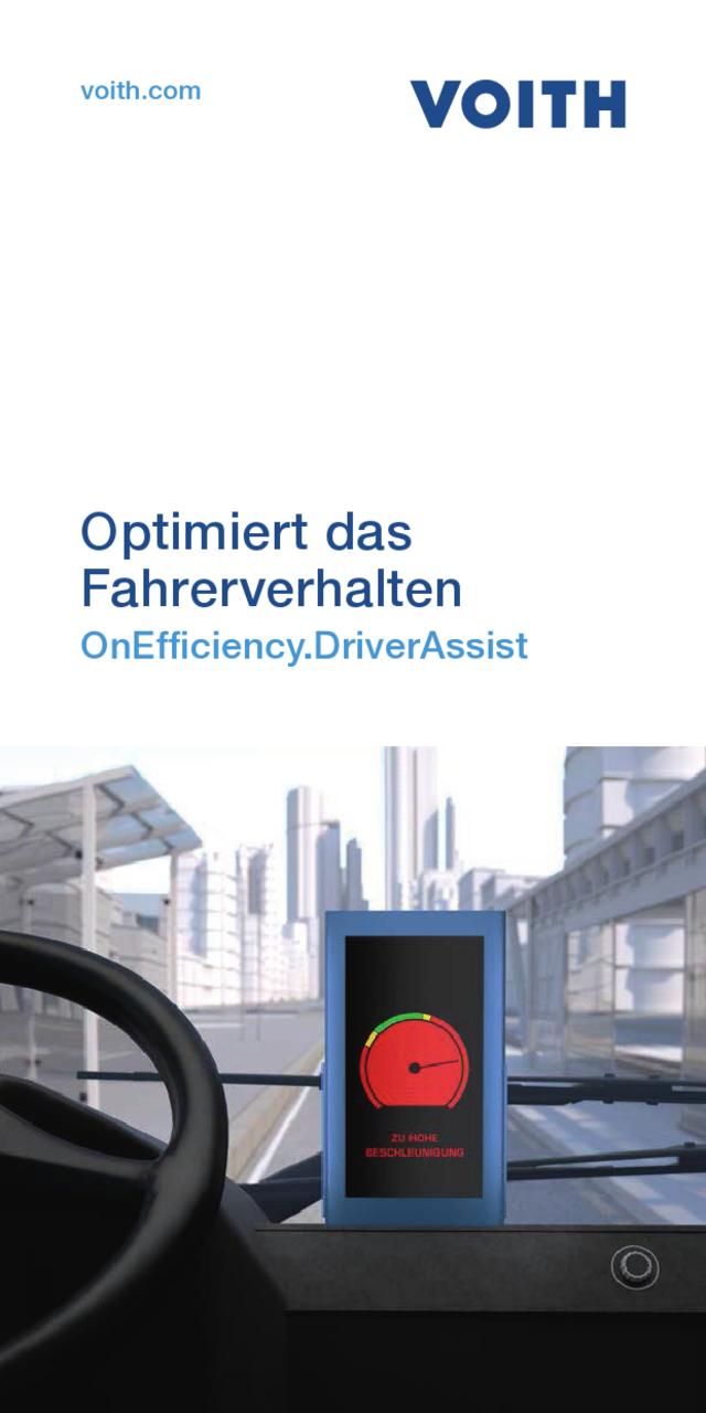 Optimiert das Fahrerverhalten OnEfficiency.DriverAssist