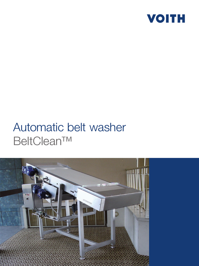 Automatic belt washer - BeltClean