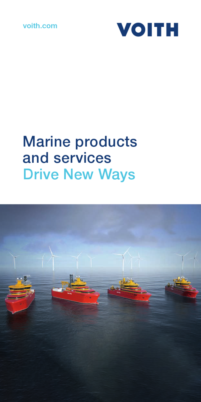 Exactly on course. Marine products and services