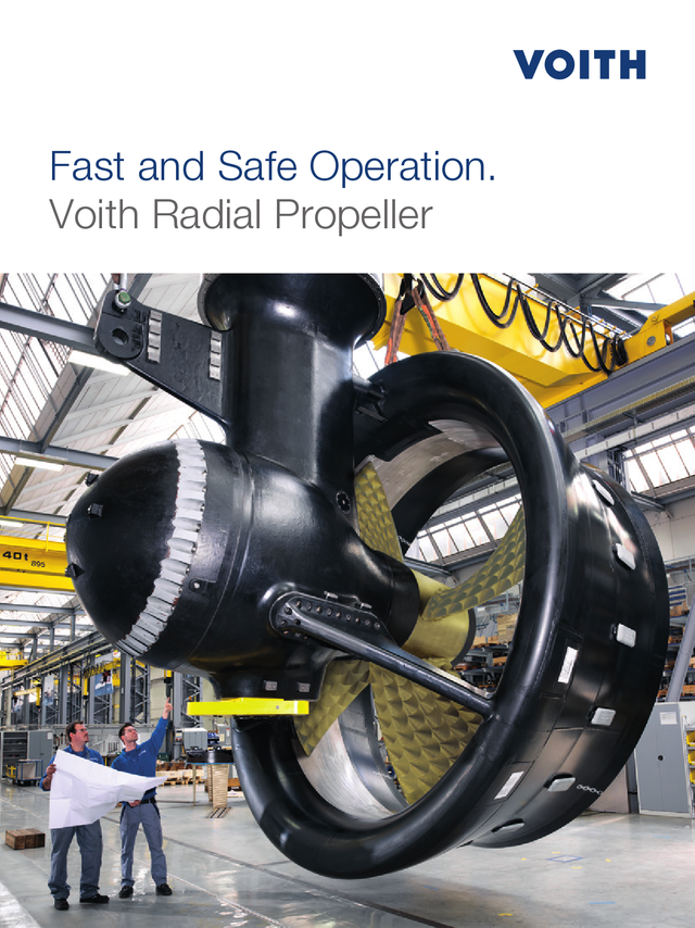 Fast and Safe Operation. Voith Radial Propeller