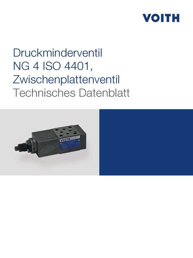 Druckminderventil NG 4 ISO 4401, Zwischenplattenventil