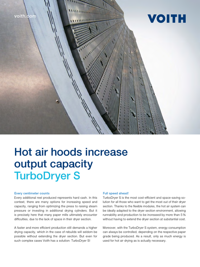 TurboDryer S - Hot air hoods increase output capacity